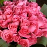 Букет от розови рози