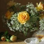 Романтика в жълто и бяло
